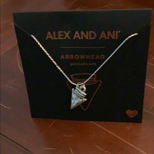Sterling arrowhead necklace.